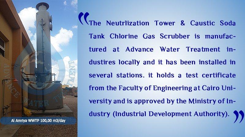 EL-AMerya-100,000-m3-day-WWTP-Neutrlization Tower & Caustic Soda Tank Chlorine Gas Scrubber